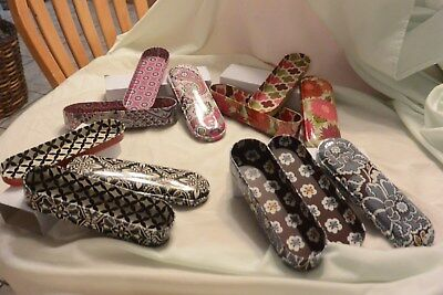 vera bradley lot of (4) 3 piece pencil tins New !!!!