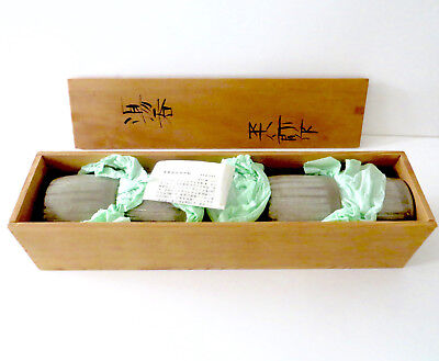 Vintage Set of 5 Boxed Japanese Handmade Pottery Cups