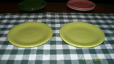 Vintage Fiesta Bread Plate Pair Chartreuse 1950's Color!!