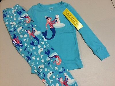 NWT Gymboree Christmas Girls Gymmies Mermaid Pajama Set Many Sizes