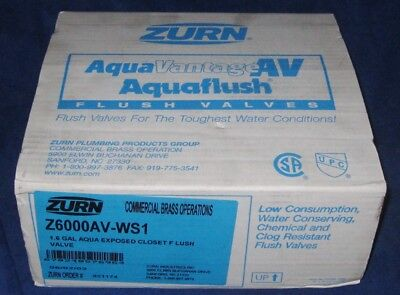 ZURN Aquaflush Low Consumption Urinal Flush Valve Z6000AV-WS1 LC NEW
