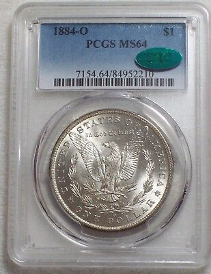 1884 O PCGS MS 64 CAC STICKER SILVER Morgan Dollar Gorgeous DARK RAINBOW TONE $1