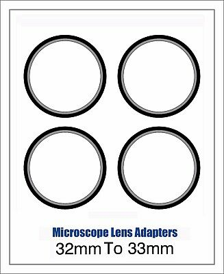 Microscope Lens Adapter 32mm To 33mm – Set Of Four