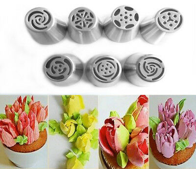 7pcs Wedding Cake Toppers Icing Piping Nozzles Cake Decoration Tips Kitchen Tool
