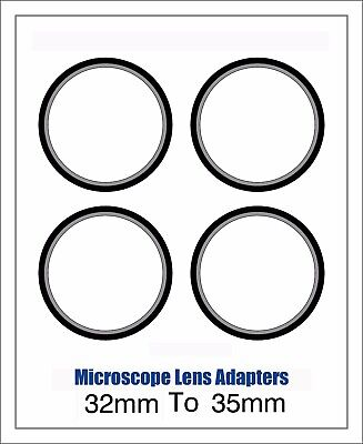 Microscope Lens Adapter 32mm To 35mm – Set Of Four