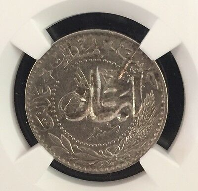 1916-20 Hejaz 20 Para Km-3 Countermark Turkey Ah1327 Ngc Xf45 Pop.1