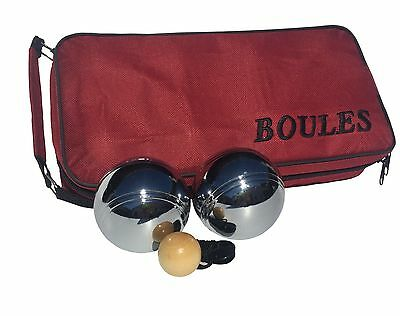 Set of 8 Alloy Chrome Plated Boules Petanque