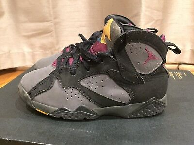 2015 Youth Nike Jordan VII Bordeaux Black Fog Grey Size 13.5C Used Rare