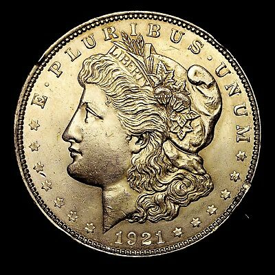 1921 P ~**ABOUT UNCIRCULATED AU**~ Silver Morgan Dollar Rare US Old Coin! #C29