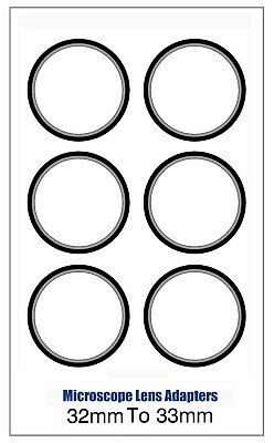 Microscope Lens Adapter 32mm To 33mm – Set Of Six