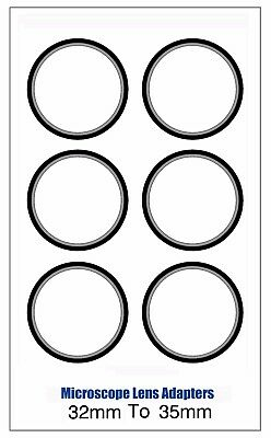 Microscope Lens Adapter 32mm To 35mm – Set Of Six
