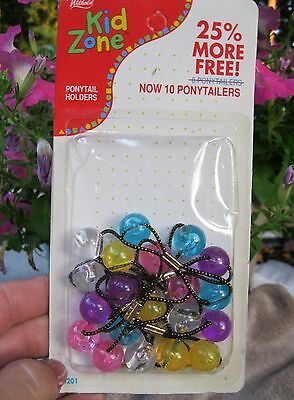 Vtg New 10 Ponytail Holders Girls Wilhold In Package 1970's - 1980's Ponytailers