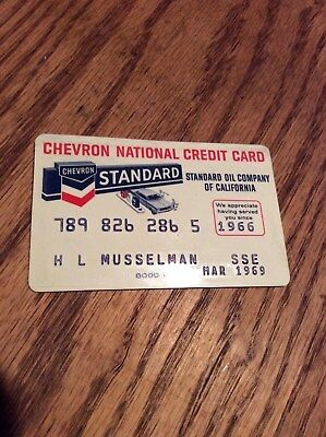 Vintage Chevron Standard oil national credit card excellent condition March 1969
