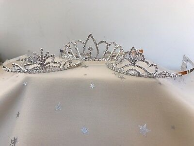 Wedding Flower Girl Prom Rhinestone Crystal Tiara (Set Of 3)