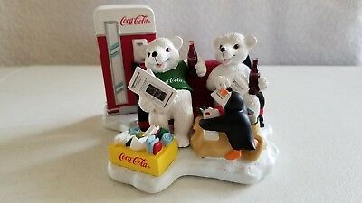1998 Coca-Cola Figurine, Passing the Day in a Special Way, BRAND NEW