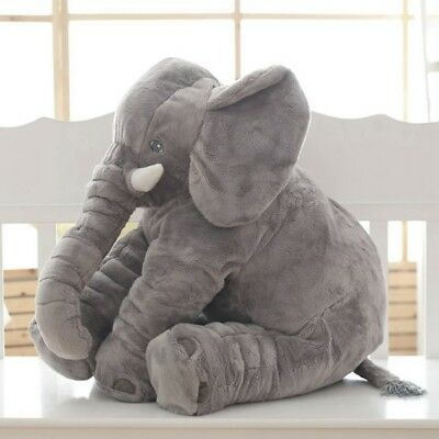 Christmas Elephant Stuffed Animal Plush Toy Gift for Children Kids Baby Pillow