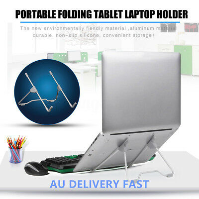 Adjustable Aluminium iPad Folding Holder Laptop Stand Notebook Cooling Ergonomic