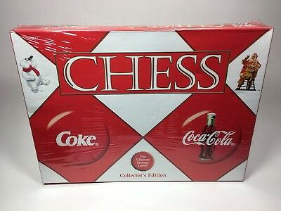 2002 Coca Cola Chess Set Collector's Edition Sealed