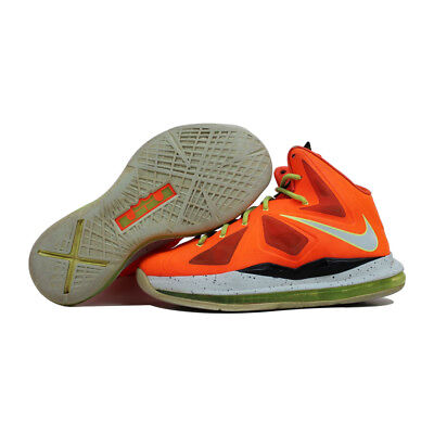 cheap for discount be5fc d7e89 Nike Lebron X 10 Total Crimson Fiberglass-Black-Volt 543564-800 GS
