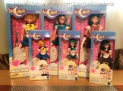 "Sailor Moon Irwin Adventure Doll LOT 12"" & 6"" Sailor Neptune Uranus Pluto"