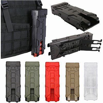 Tactical MOLLE 10pcs12GA Shotgun Shell Holder Buttstock Shell Pouch Ammo Carrier