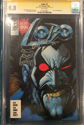 LOBO #1 SIGNED AND SKETCH CGC 9.8 SIMON BISLEY COMIC DC not cbcs