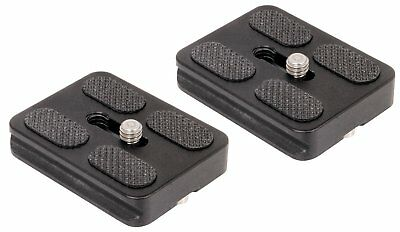 SET OF 2 Replacement Quick Release Plates for the Benro A0350Q0T MeFoto Travel