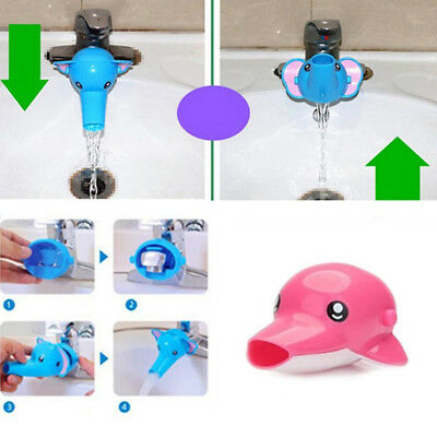 HK- Water Faucet Chute Extender Spout Tap Guard Child Auxiliary Hand Washing Pea
