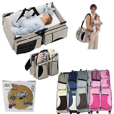 NEW! 2 in 1 Crib Baby Portable Diaper Bassinet Nappy Bag Changing Fold Travel