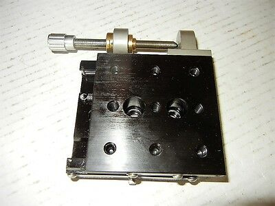 """Newport 423 Linear Stage 3"""" X 3"""" & Newport Fine Pitch Actuator 2"""" Travel, 1/4-20"""