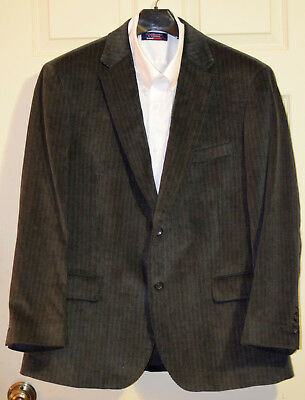 Dockers Gray Corduroy Cotton 2-button Mens Sport Coat Jacket  Blazer 46R