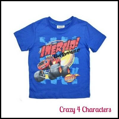 Licensed Blaze & The Monster Machines T-Shirt TShirt Tee Sizes 2 3 4 5 Party