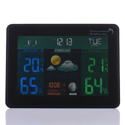 TS-70 DCF Wireless Weather Station Forecast Alarm Indoor/Outdoor Thermometer