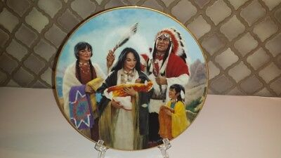 The Naming Ceremony Plate (4) Signed Kenneth Freeman Hamilton Collection 1991