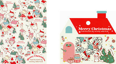 """Sanrio Characters """"Christmas"""" Mini Letter Set in Folder + Sack o' Stickers"""