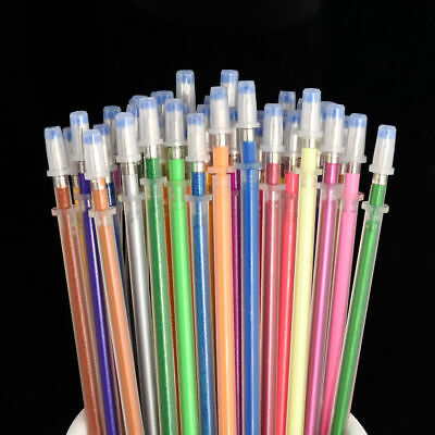 Cool 48 Color Gel Pen Glitter Coloring Drawing Painting Craft Markers Stationery
