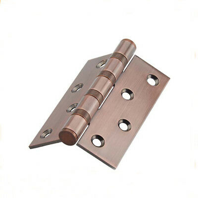 "1 Piece Vintage Copper Red Stainless Steel Door Hinges 4"" Ball Bearing Hardware"
