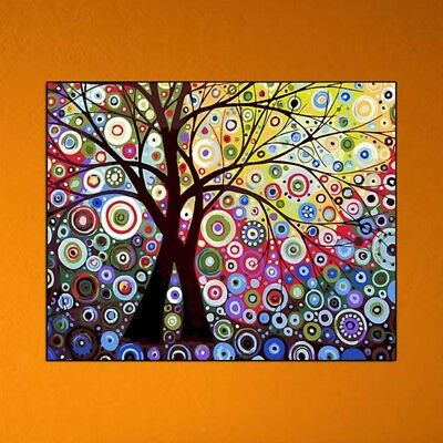Abstract Sun Tree Digital Oil Painting DIY Paint By Numbers On Canvas No-Framed