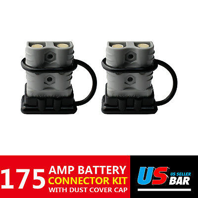 175A Dust Cover Black Jumper Booster Cables Pair Plug Mounting Grey Anti-Dust