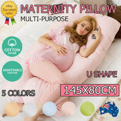 Bolster Pregnancy Maternity Pillow U Shape Comfort Soft Total Body Full Support