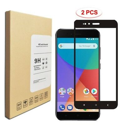 For Xiaomi Mi A1/Mi 5X 9H 3D Full Cover Tempered Glass Film Screen Protector 2PK