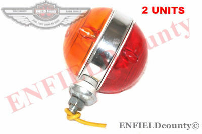 Universal Red Amber Lens Side Indicator Marker & Parking Light 2 Units @aud