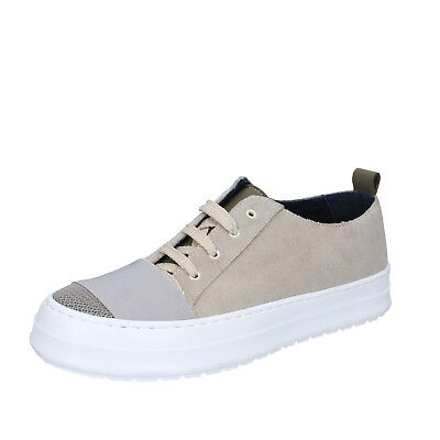 mens shoes FDF SHOES 8 (EU 42) sneakers beige suede textile  BZ379-D