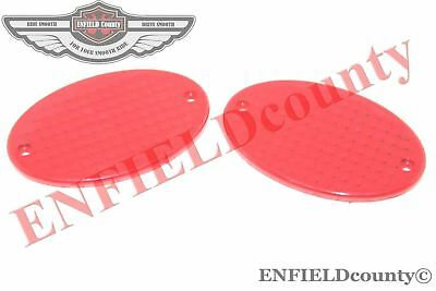 New Plastic Made Oval Type Red Indicator Lens Set Of 2 Units @aud
