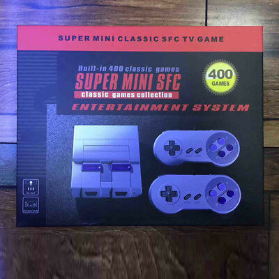 SNES NES Classic Game Console  Built-in 400 Games with 2 Controllers Xmas Gifts