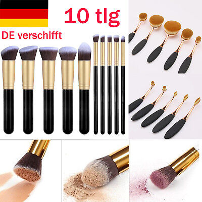 10Pcs Pro Kosmetik Pinsel Set Make Up Pinsel Set Schminkpinsel Haarbürste Set DE