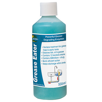 Hydra Grease Eater Liquid Grease Enzyme Cleaner Degreaser Fat Oil Remover 500ml