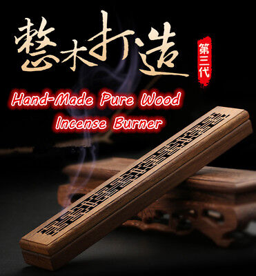 NEW Handmade Wooden Incense Holder Burner Box Stick Holder