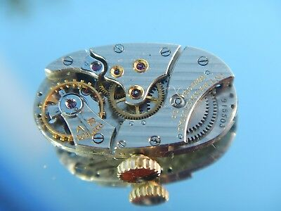 IWC Watch Movement International Watch Co Movement and Dial Vintage 1950 Oval