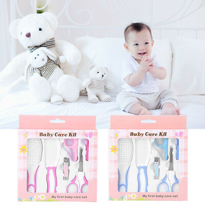 6pcs/set Baby Infant Comb Manicure Nail Clipper Health care & Grooming Care Kit